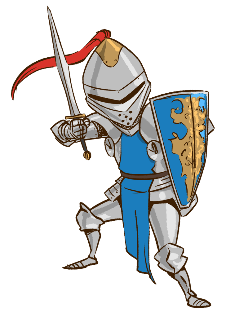 Pic knight battle clipart