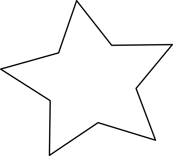 Image christmas star clip art outline