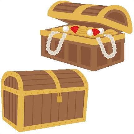 Large treasure chest set clipart
