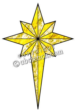Religious christmas star clip art religious clipart