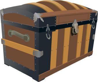 Treasure chest pirates1 clip art