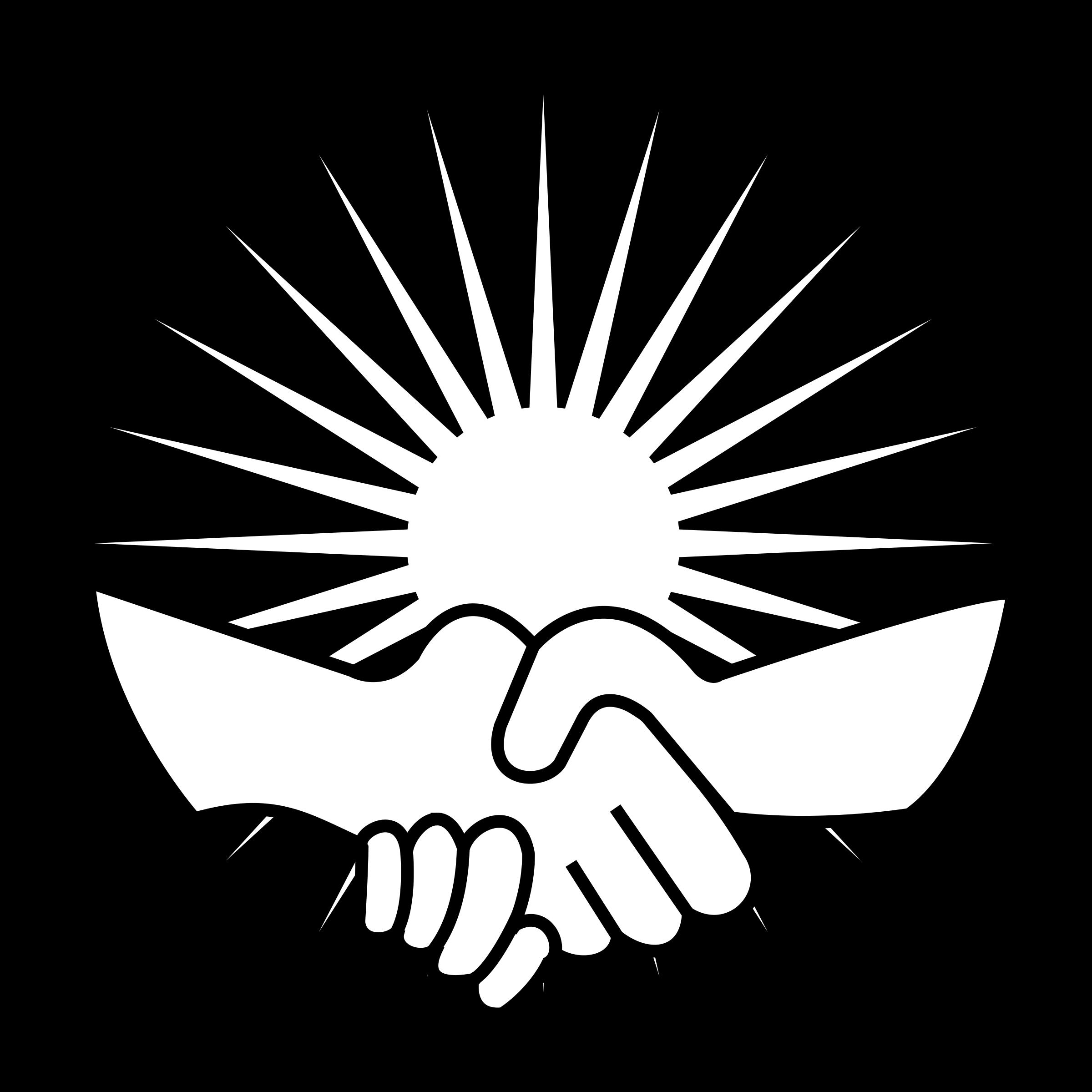 Clipart handshake 2