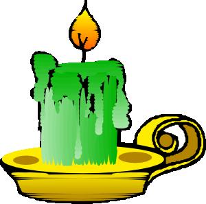 Green candle clip art vector clip art free
