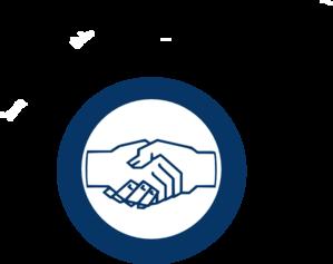 Handshake blue hand shake clip art at vector clip art