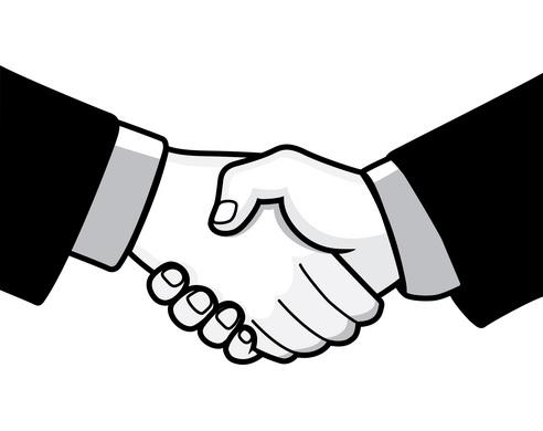 Handshake clip art 2