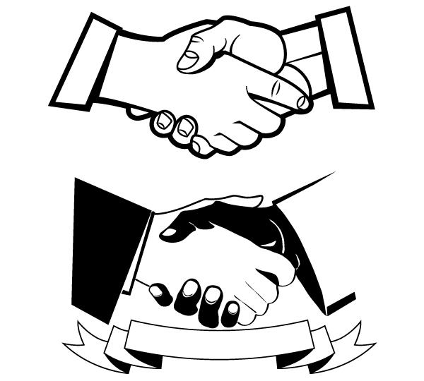 Handshake vector image free vector graphics download free clip art