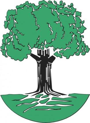 Oak tree tree clip art free vector in open office drawing svg svg