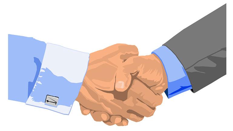 Pic image of handshake clip art 2