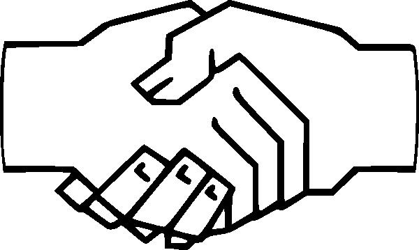 Pic image of handshake clip art 3