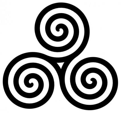 Black white swirl clip art free clipart images