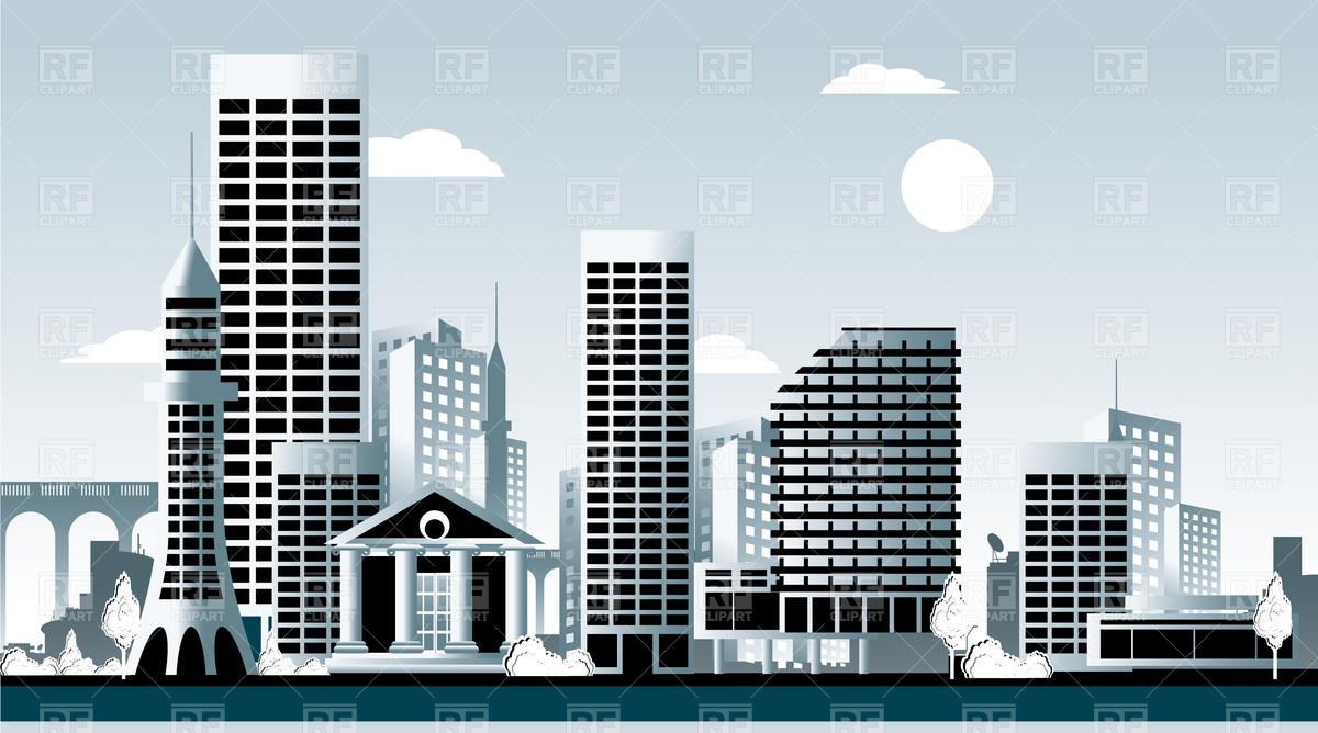 Cityscape city skyline clipart building clipart image