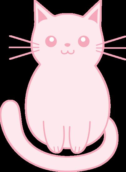 Cute pink kitten clip art free clip art