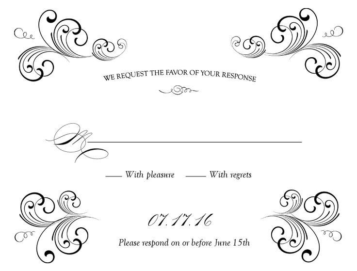 Free Weddings Swirls Clip Art Black Swirl Wedding Response