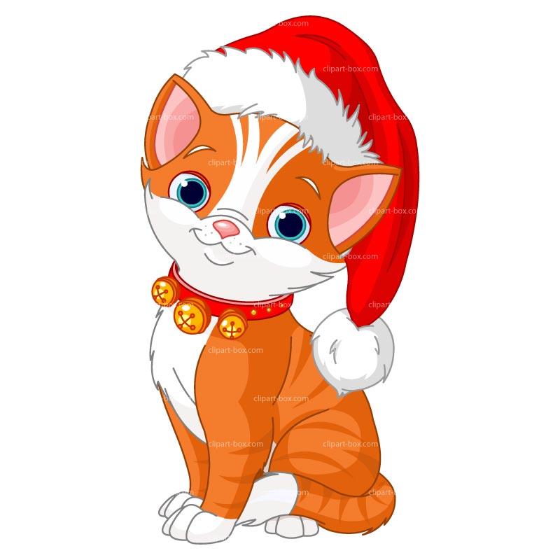 Pic christmas kitten clip art 2 image #25221