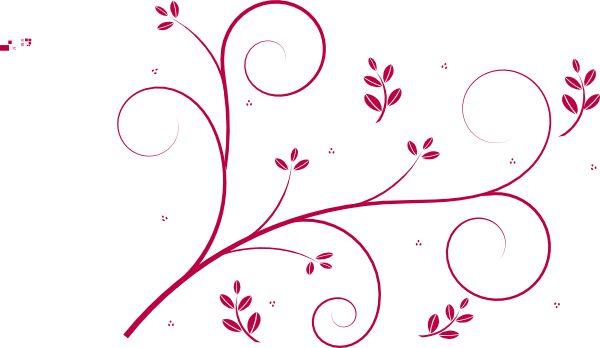 Red swirls floral swirl clip art vector clip art