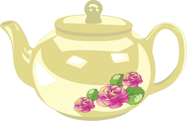 Teacup teapot clip art