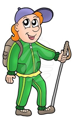 Hiking image animated hiker clip art