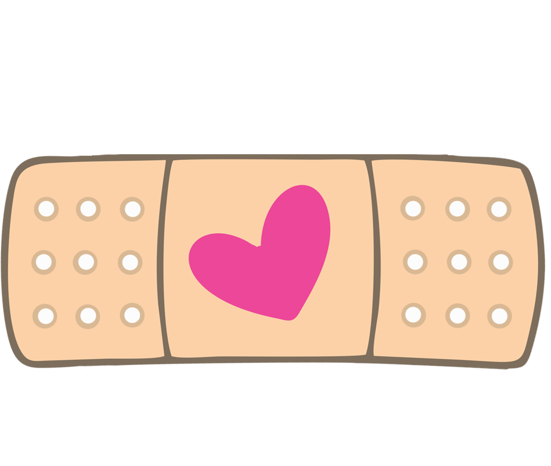 Pic heart bandaid clipart