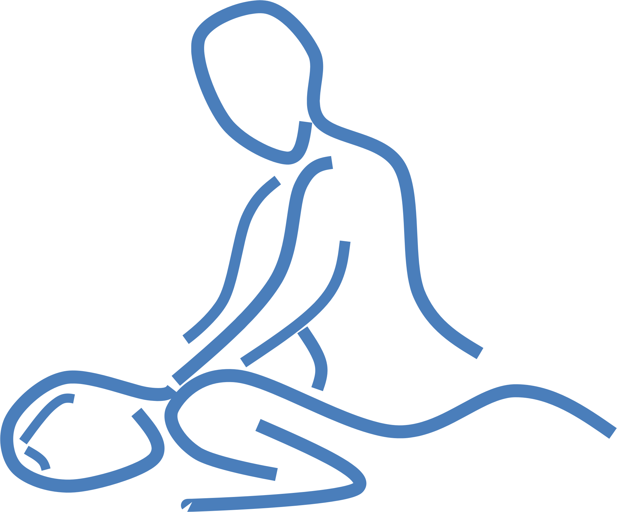 Clipart massage line art