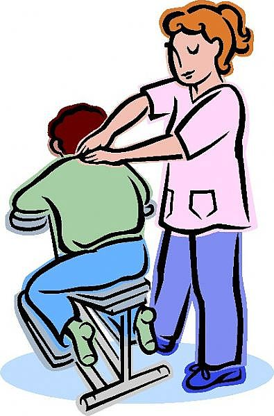Funny massage chairs clipart 1