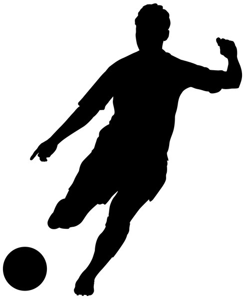 kickball girl soccer player silhouette free clipart images image