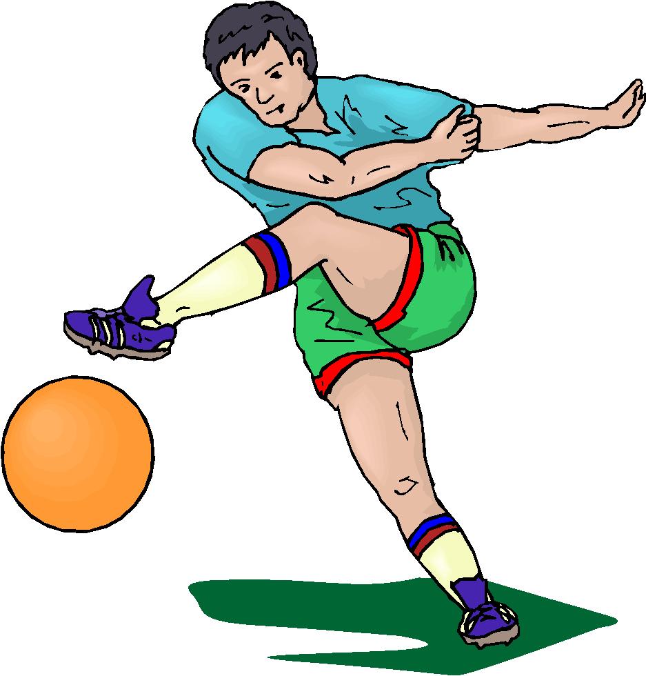 Kickball kick clip art