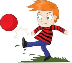 Kickball kick clipart free clipart images