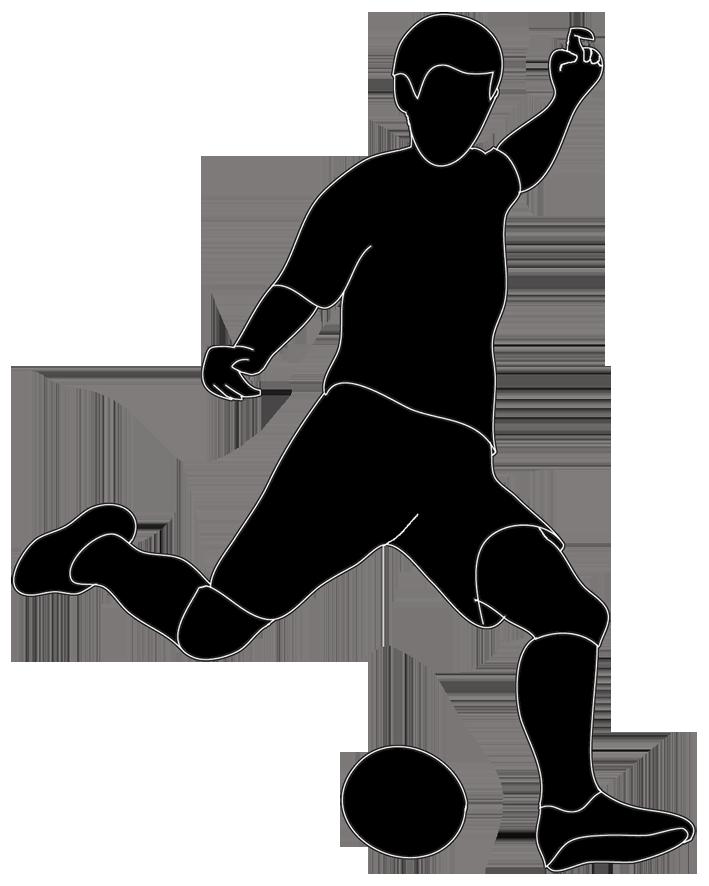 Kickball kicking soccer ball clip art free clipart images