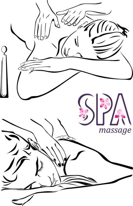 Lines beauty massage clipart