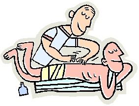 Sports massage clipart