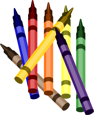 Crayon clip art black and white free clipart images 2
