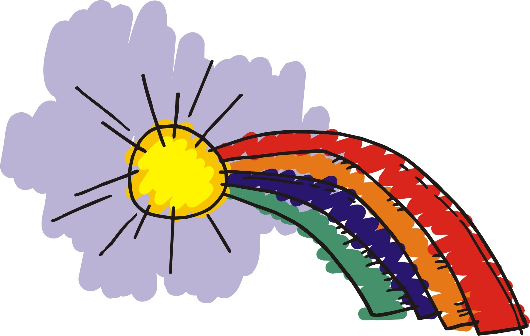 Free rainbow clip art images