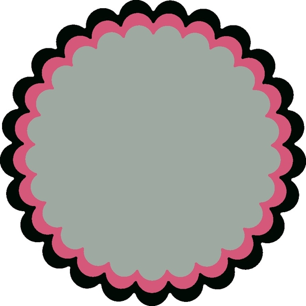 Half circle border clipart
