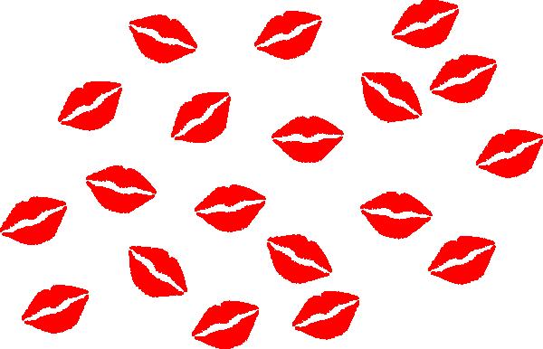 Kiss cartoon. Kisses lips clipart image