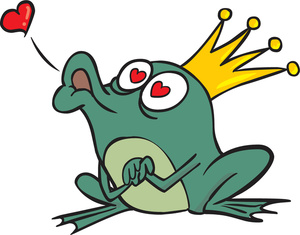 Kisses frog prince clipart image cartoon clip art image of a frog