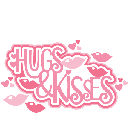 Large Hugs And Kisses Title3 Clipart Image 26406
