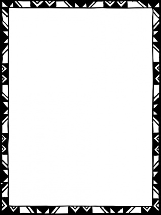 Black borders certificate clipart