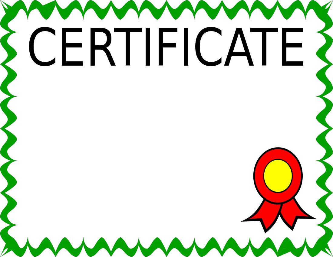 Certificate clip art 2