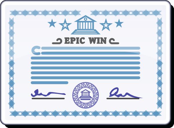 Certificate clip art at vector clip art 3