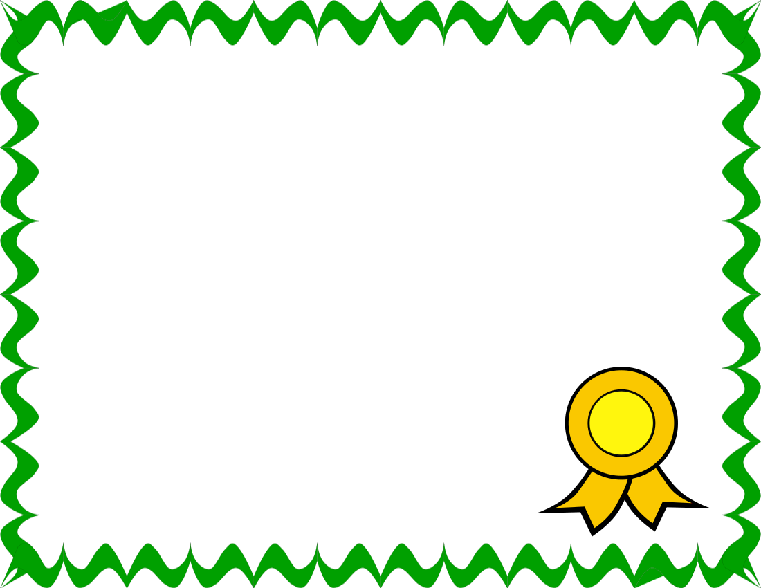 Certificate clip art borders clipart