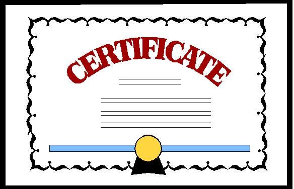 Certificate clip art free clipart