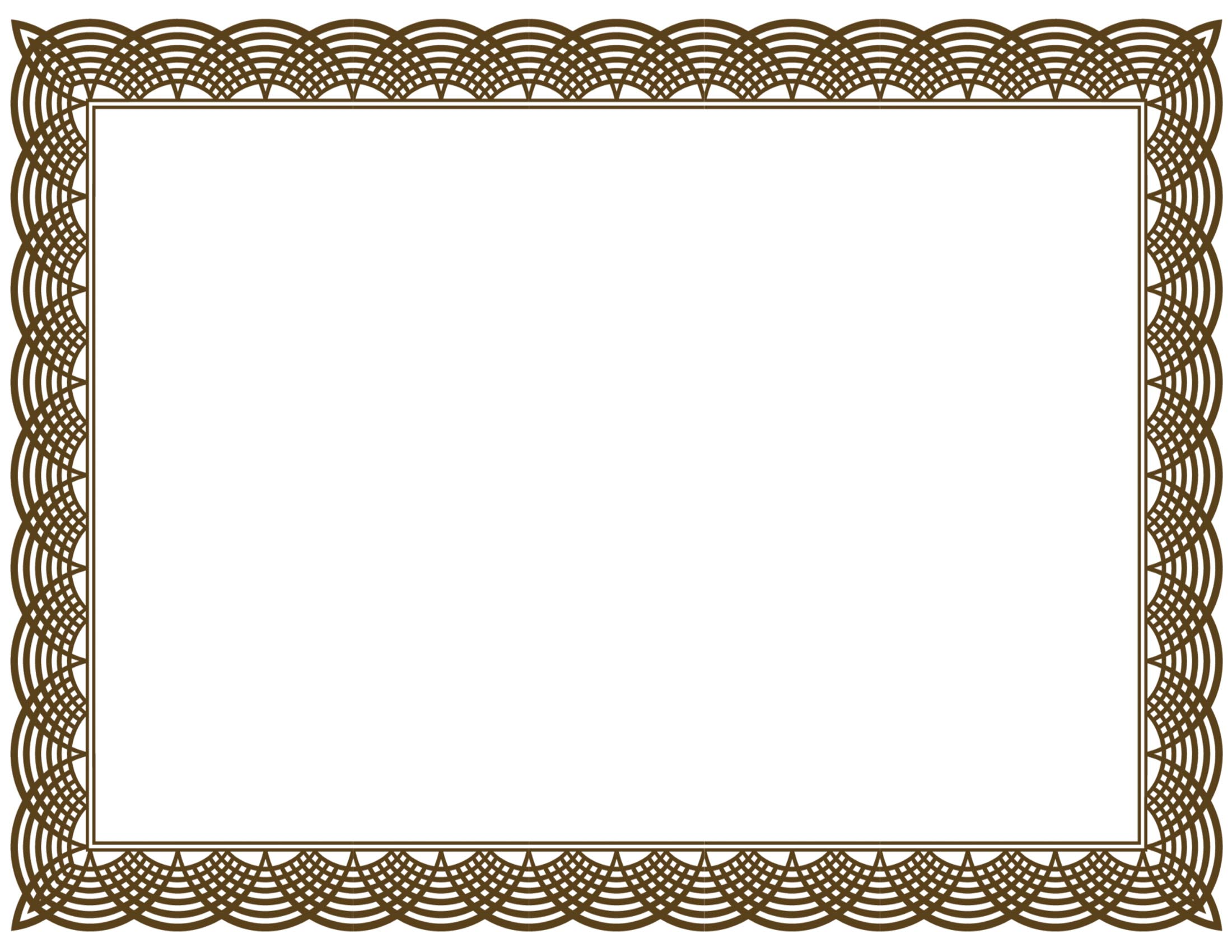 Free certificate borders clipart