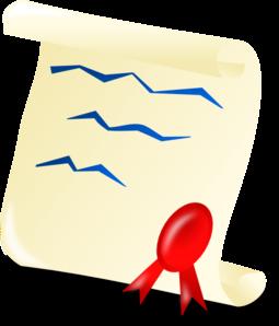 Graduation certificate clip art at vector clip art