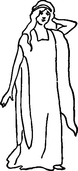 A character representing faith clip art at vector clip