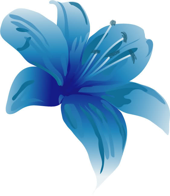 Blue lily clipart