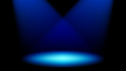 Blue spotlight clipart 3