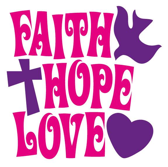 Faith hope love clipart