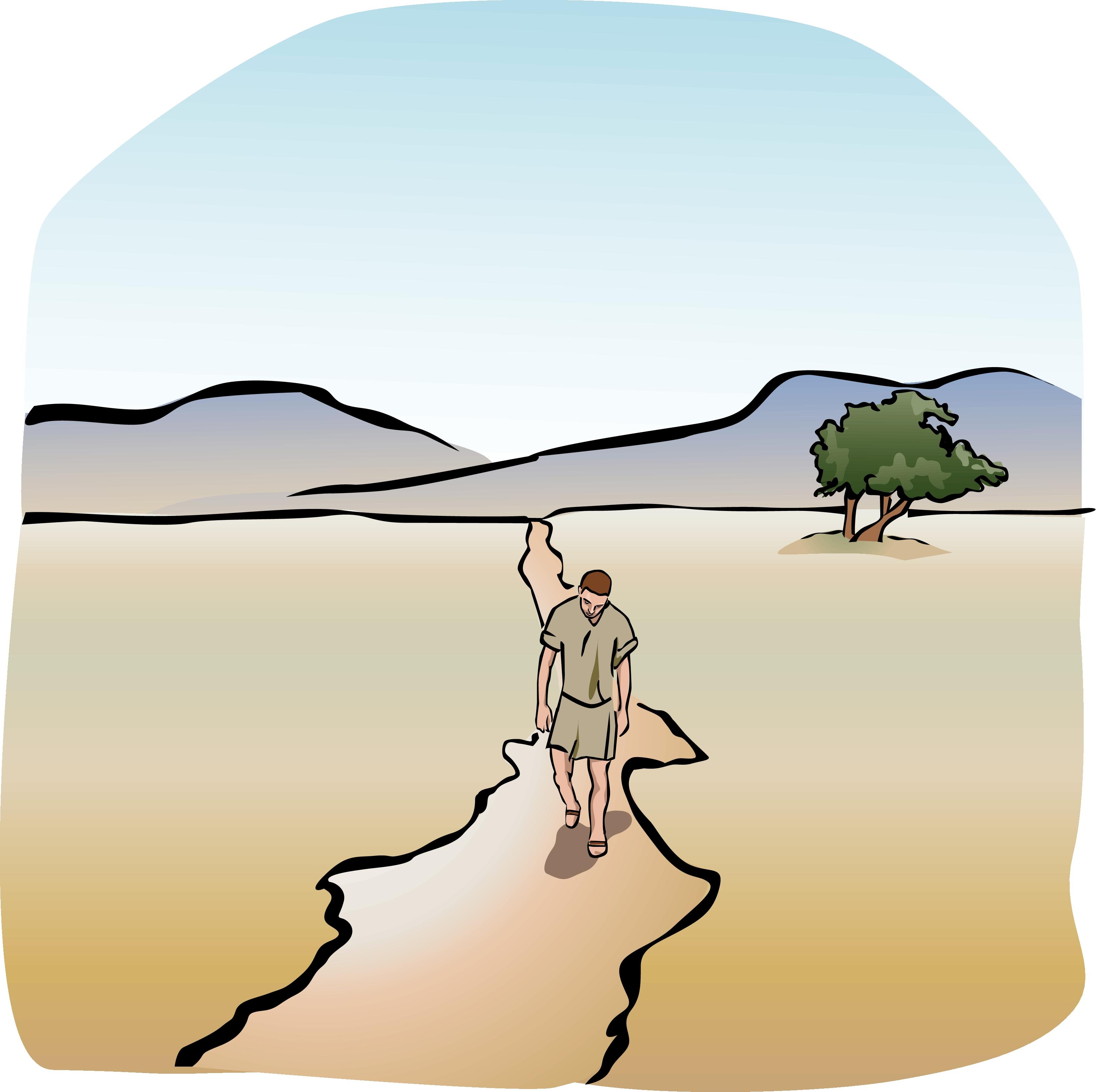 Faith walking with god clipart