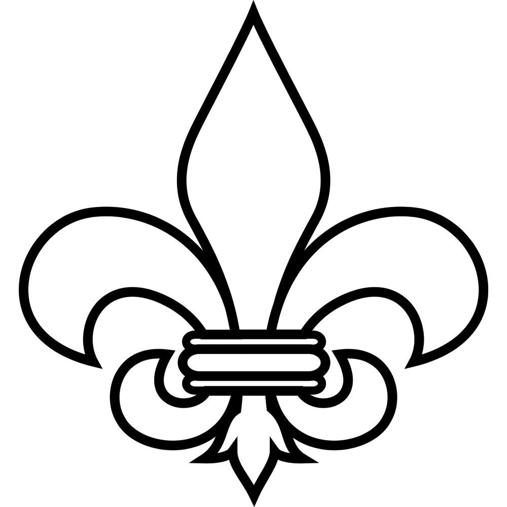 image relating to Fleur De Lis Stencil Printable identified as Fleur de lis printable stencil clipart picture #26777