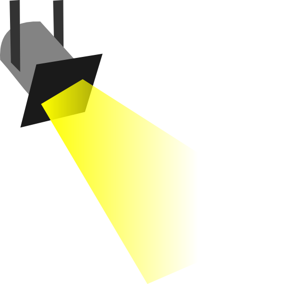 Floor spotlight clipart